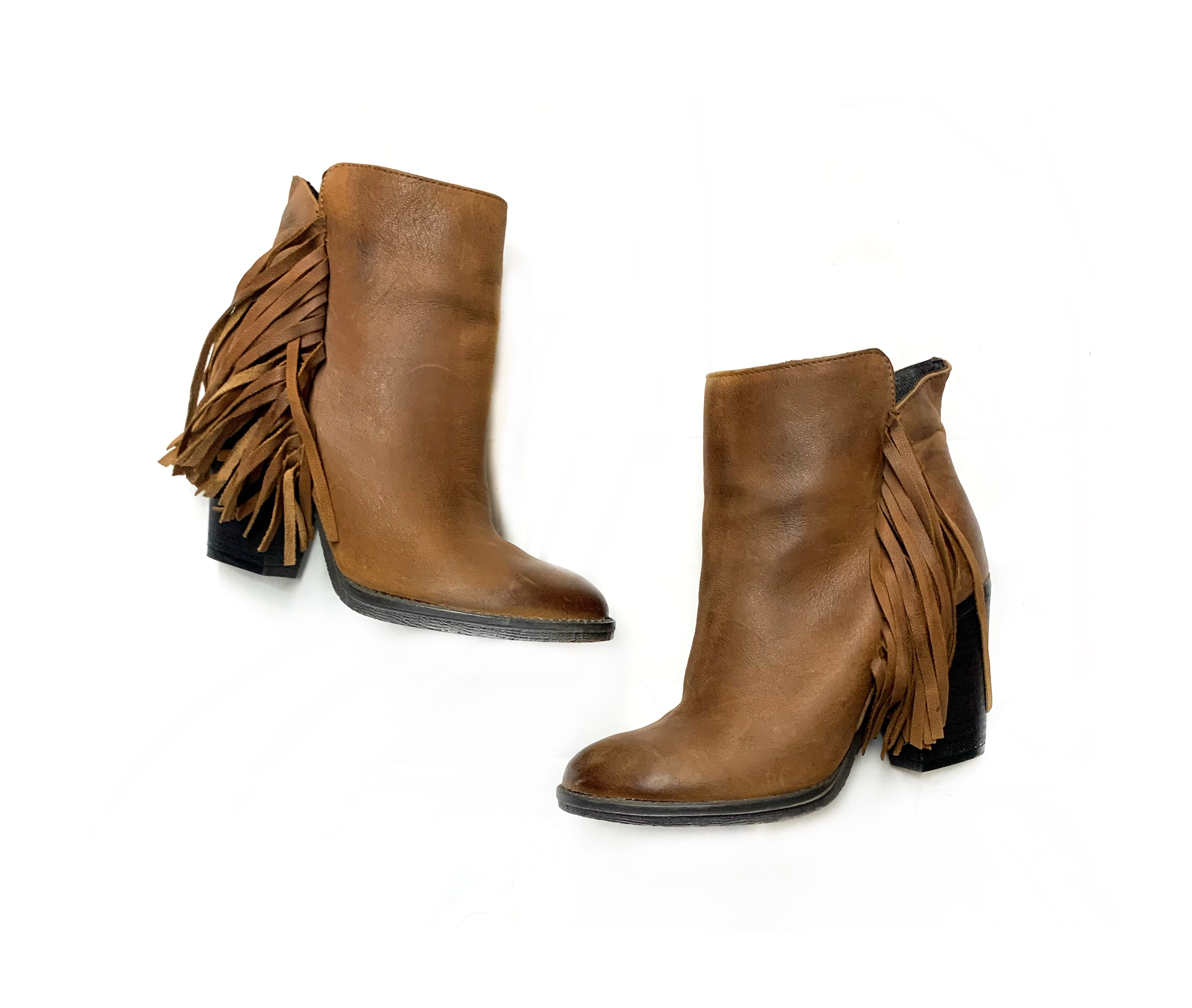 Primary Photo - BRAND: STEVE MADDEN<BR>STYLE: BOOTS ANKLE<BR>COLOR: BROWN<BR>SIZE: 7.5<BR>SKU: 196-14511-43914