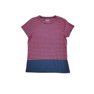 Primary Photo - BRAND: BANANA REPUBLIC STYLE: TOP SHORT SLEEVE COLOR: BLUE RED SIZE: L SKU: 196-196112-58330