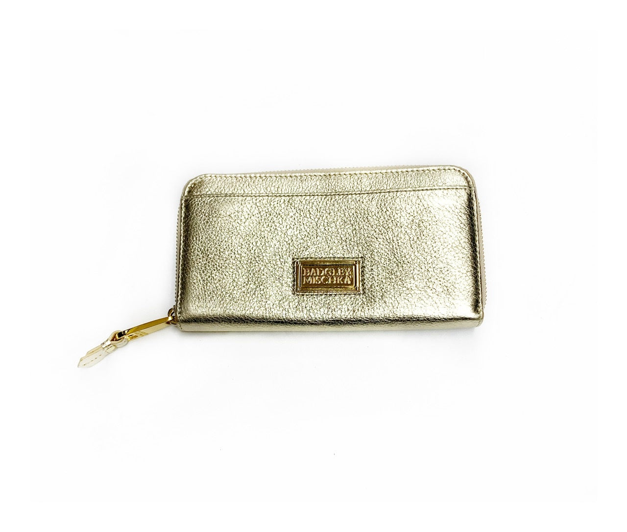 Primary Photo - BRAND: BADGLEY MISCHKA<BR>STYLE: WALLET<BR>COLOR: GOLD<BR>SIZE: LARGE<BR>SKU: 196-196112-47213