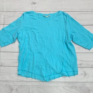 Primary Photo - BRAND: SOFT SURROUNDINGS STYLE: TOP SHORT SLEEVE COLOR: BLUE SIZE: 2X SKU: 196-19681-70941