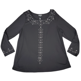 Primary Photo - BRAND:   KAREN BROOKSSTYLE: TOP LONG SLEEVE COLOR: BLACK SIZE: 1X SKU: 196-196132-2881
