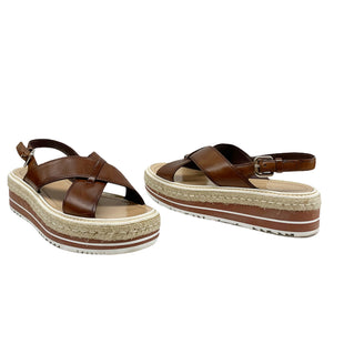 Primary Photo - BRAND: PRADA STYLE: SANDALS LOW COLOR: BROWN SIZE: 10 OTHER INFO: ITALY SIZE 40 SKU: 196-196112-58763