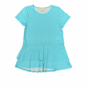 Primary Photo - BRAND: MICHAEL BY MICHAEL KORS STYLE: TOP SHORT SLEEVE COLOR: BLUE WHITE SIZE: M SKU: 196-196141-4808