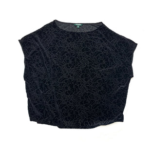 Primary Photo - BRAND: RALPH LAURENSTYLE: TOP SHORT SLEEVECOLOR: BLACKSIZE: 3XSKU: 196-196141-1840