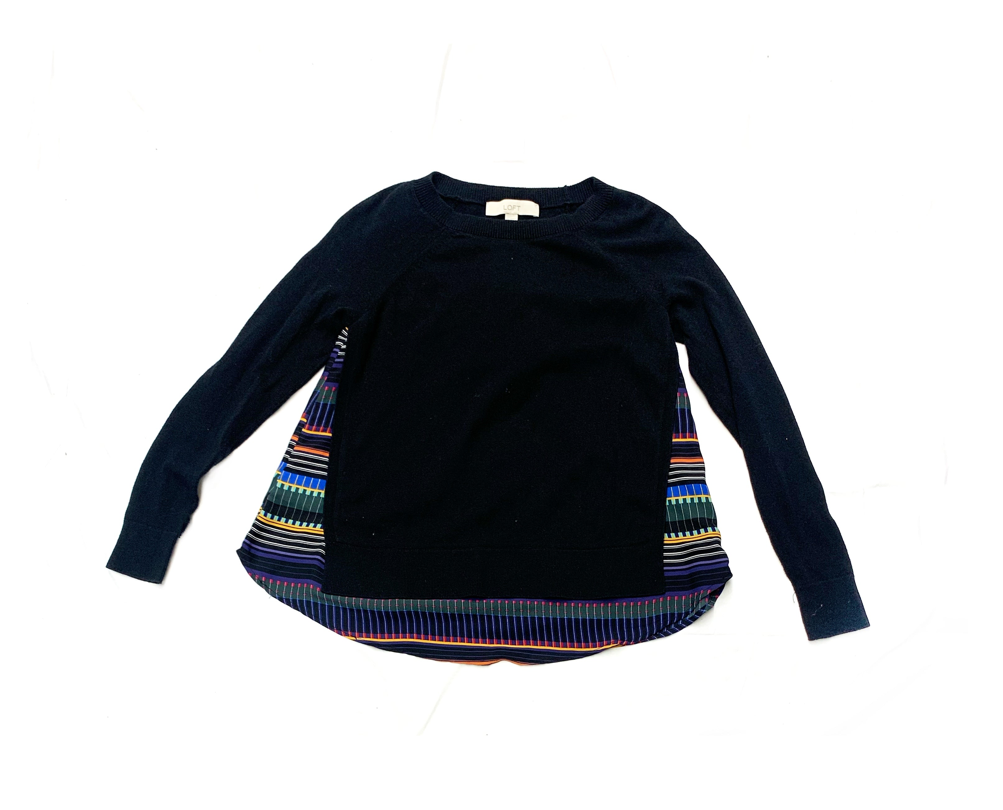 Primary Photo - BRAND: ANN TAYLOR LOFT<BR>STYLE: SWEATER LIGHTWEIGHT<BR>COLOR: BLACK<BR>SIZE: XS<BR>SKU: 196-19692-25735