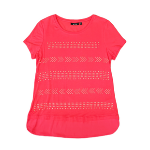 Primary Photo - BRAND: APT 9 STYLE: TOP SHORT SLEEVE COLOR: RED SIZE: PETITE   SMALL SKU: 196-196112-56986
