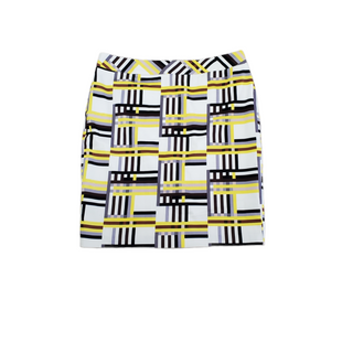 Primary Photo - BRAND: NINE WEST APPAREL STYLE: SKIRT COLOR: WHITE YELLOW SIZE: 16 SKU: 196-196112-58107