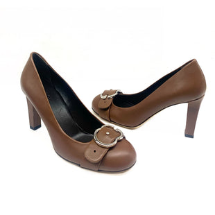 Primary Photo - BRAND: GUCCI STYLE: SHOES DESIGNER COLOR: BROWN SIZE: 7.5 OTHER INFO: EUR 37.5 SACHALIN PUMP SKU: 196-14511-45416