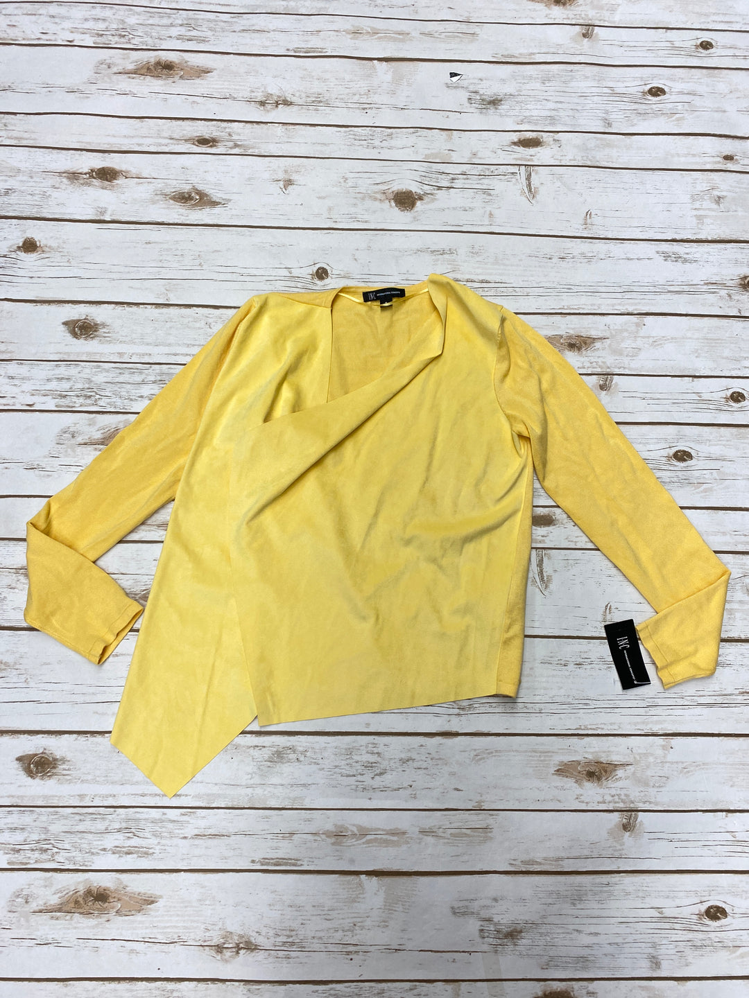 Primary Photo - BRAND: INTERNATIONAL CONCEPTS <BR>STYLE: SWEATER CARDIGAN LIGHTWEIGHT <BR>COLOR: YELLOW <BR>SIZE: M <BR>SKU: 196-196136-4345