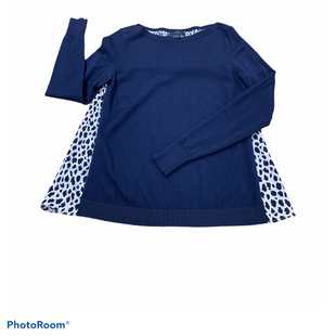 Primary Photo - BRAND: ANN TAYLOR STYLE: TOP LONG SLEEVE COLOR: NAVY SIZE: XS OTHER INFO: ANIMAL PRINT SKU: 196-19694-35540