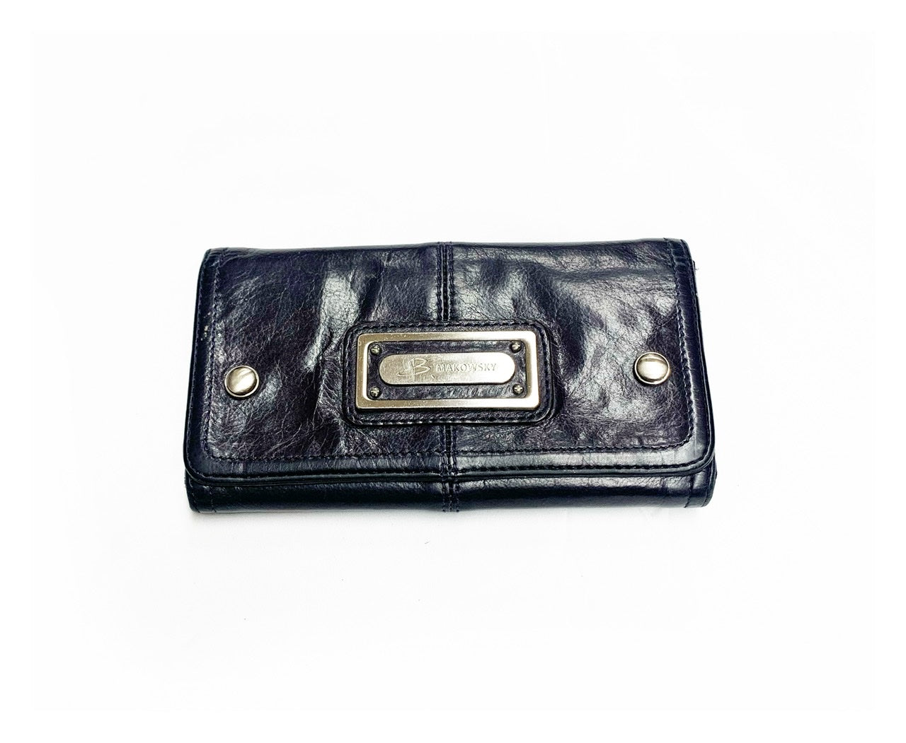 Primary Photo - BRAND: B MAKOWSKY<BR>STYLE: WALLET<BR>COLOR: PURPLE<BR>SIZE: MEDIUM<BR>SKU: 196-196112-41080