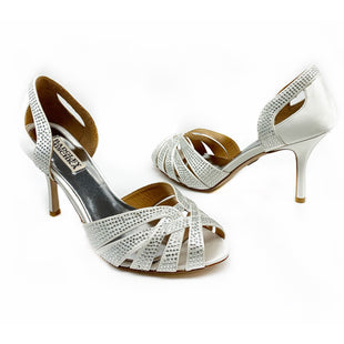 Primary Photo - BRAND: BADGLEY MISCHKA STYLE: SHOES DESIGNER COLOR: CHAMPAGNE SIZE: 7.5 SKU: 196-14511-46197
