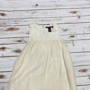Primary Photo - BRAND:    CLOTHES MENTOR STYLE: TOP SLEEVELESS COLOR: CREAM SIZE: XS OTHER INFO: CENTRAL PARK WEST  - SKU: 196-196135-2131