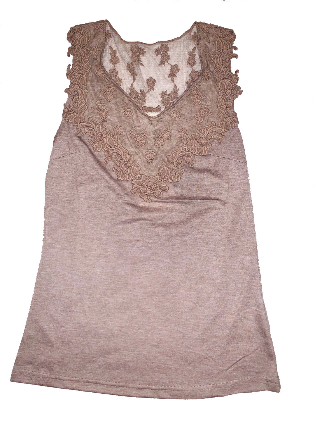 Primary Photo - BRAND: AREVE<BR>STYLE: TOP SLEEVELESS<BR>COLOR: BROWN<BR>SIZE: L<BR>SKU: 196-19681-69791