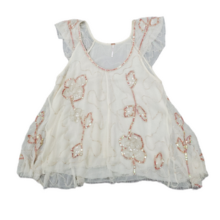 Primary Photo - BRAND: FREE PEOPLE STYLE: TOP SHORT SLEEVE COLOR: CREAM SIZE: S SKU: 196-14511-47976