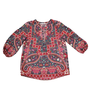 Primary Photo - BRAND: VIOLET AND CLAIRE STYLE: TOP LONG SLEEVE COLOR: RED GREY SIZE: S SKU: 196-19681-72288