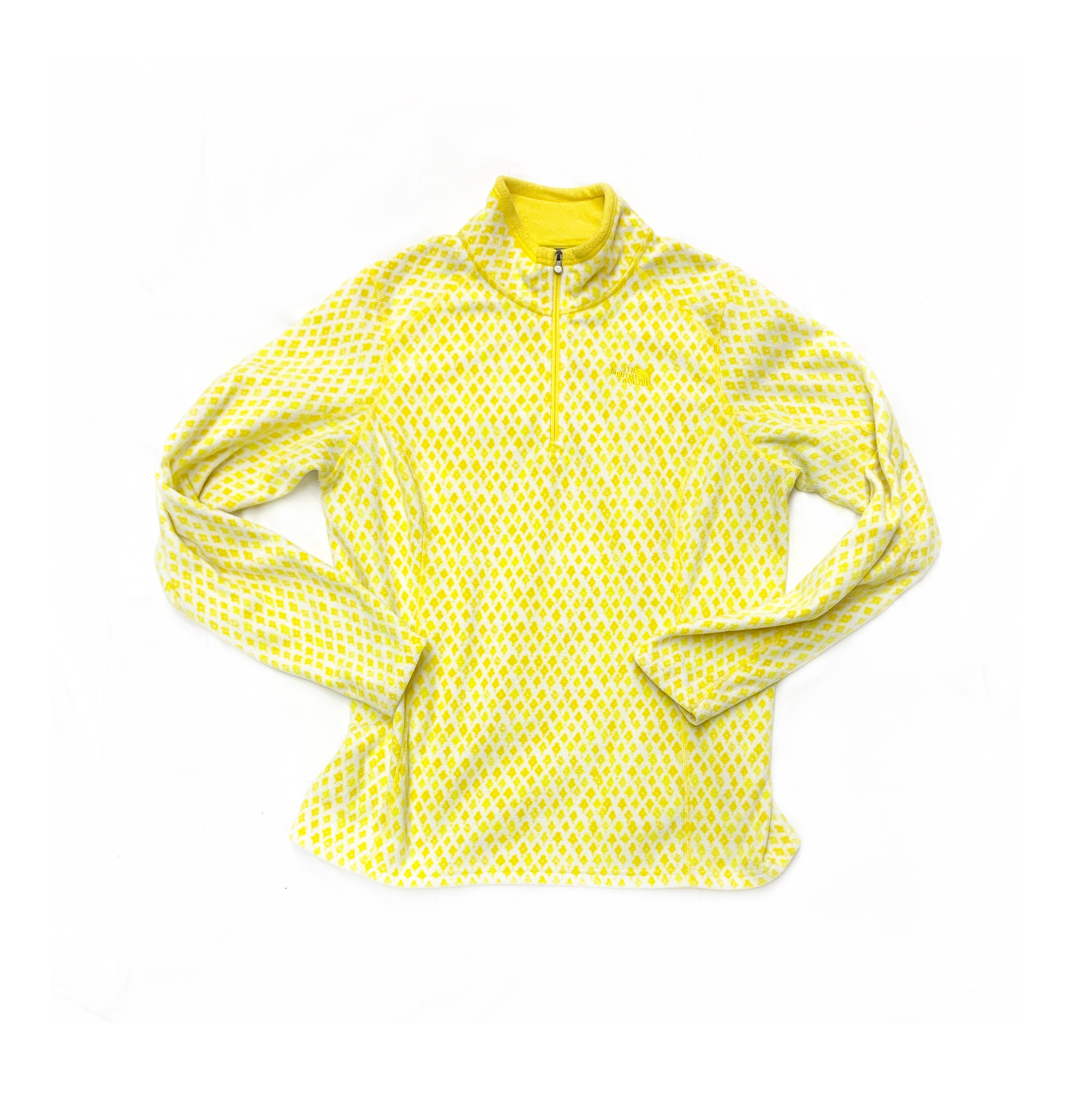 Primary Photo - BRAND: NORTHFACE<BR>STYLE: FLEECE<BR>COLOR: WHITE YELLOW<BR>SIZE: L<BR>SKU: 196-196112-46964R