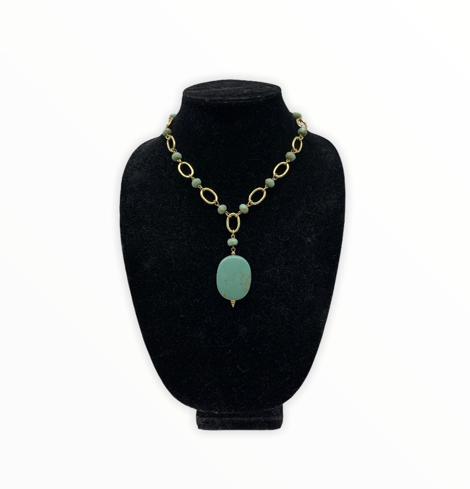 Primary Photo - BRAND: LIA SOPHIA JEWELRY <BR>STYLE: NECKLACE <BR>COLOR: GREEN <BR>SKU: 196-196112-54947