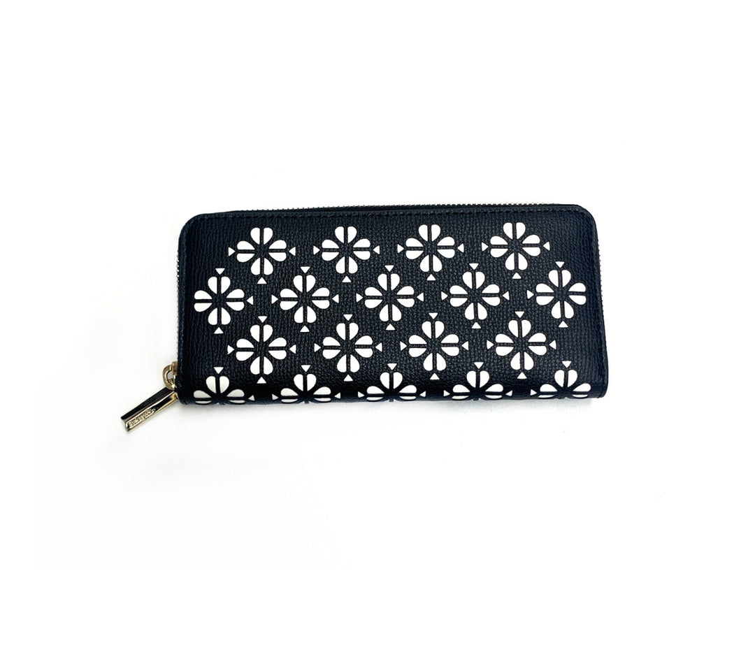 Primary Photo - BRAND: KATE SPADE<BR>STYLE: WALLET<BR>COLOR: BLACK WHITE<BR>SIZE: LARGE<BR>SKU: 196-196112-45439R