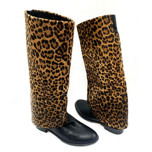 Primary Photo - BRAND: STUART WEITZMANSTYLE: BOOTS DESIGNERCOLOR: ANIMAL PRINTSIZE: 7.5SKU: 196-14511-39568