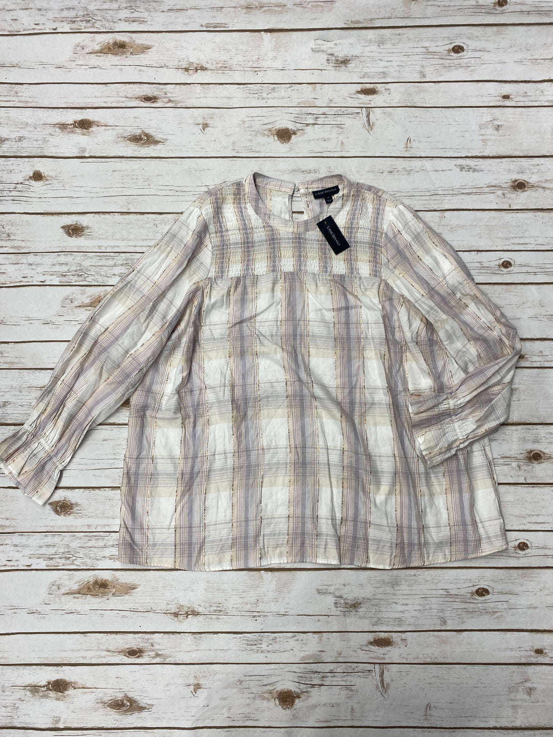 Primary Photo - BRAND: LANE BRYANT <BR>STYLE: TOP LONG SLEEVE <BR>COLOR: PLAID <BR>SIZE: 1X <BR>SKU: 196-196112-49340
