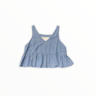 Primary Photo - BRAND: ABOUND STYLE: TOP SLEEVELESS COLOR: BLUE WHITE SIZE: 1X SKU: 196-19666-16237
