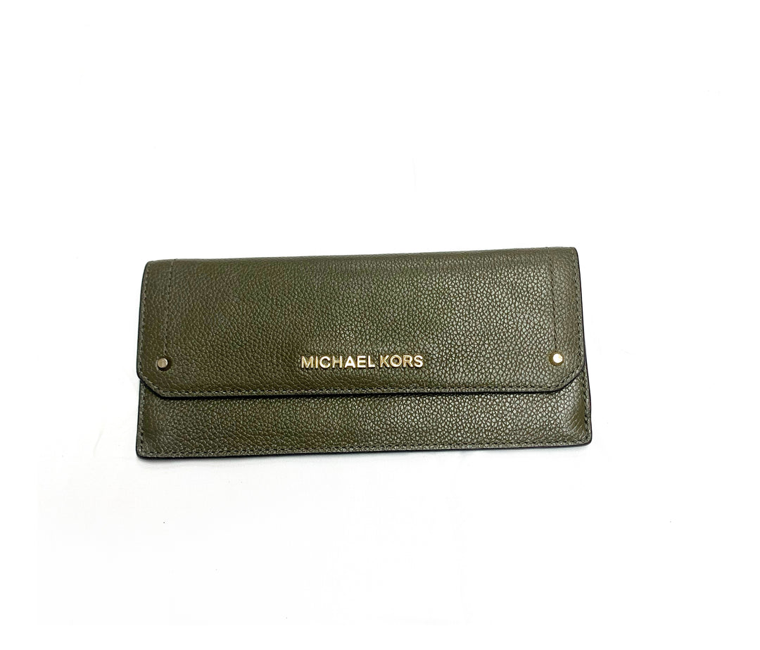 Primary Photo - BRAND: MICHAEL BY MICHAEL KORS<BR>STYLE: WALLET<BR>COLOR: OLIVE<BR>SIZE: LARGE<BR>SKU: 196-14511-42150