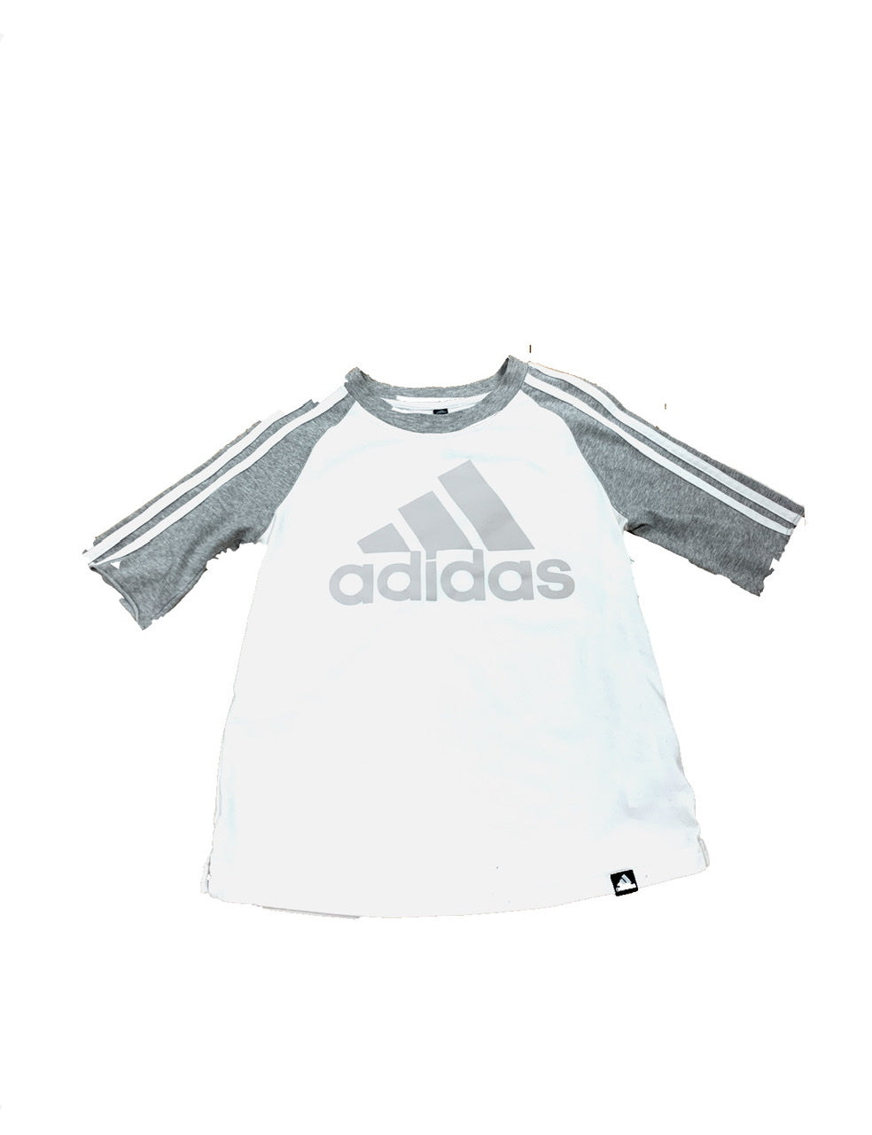 Primary Photo - BRAND: ADIDAS<BR>STYLE: ATHLETIC TOP SHORT SLEEVE<BR>COLOR: GREY WHITE<BR>SIZE: XS<BR>SKU: 196-19694-33043