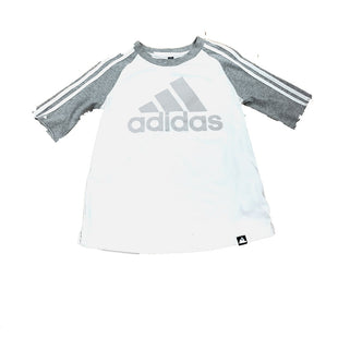 Primary Photo - BRAND: ADIDASSTYLE: ATHLETIC TOP SHORT SLEEVECOLOR: GREY WHITESIZE: XSSKU: 196-19694-33043