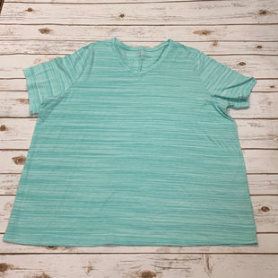 Primary Photo - BRAND: CATHERINES STYLE: TOP SHORT SLEEVE BASIC COLOR: TEAL SIZE: 2X SKU: 196-196141-3188