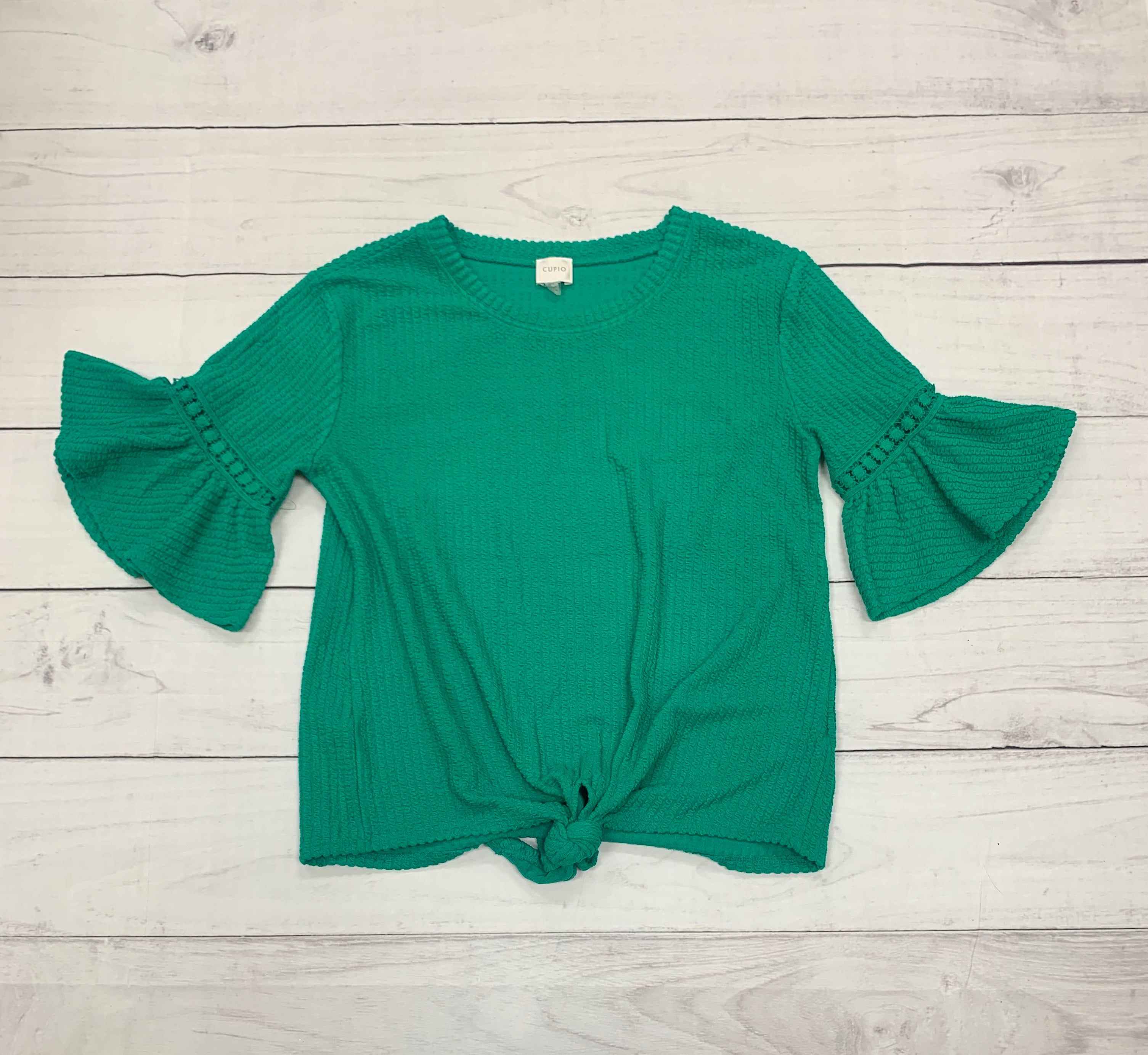 Primary Photo - BRAND: CUPIO <BR>STYLE: TOP LONG SLEEVE <BR>COLOR: GREEN <BR>SIZE: M <BR>SKU: 196-19666-16242