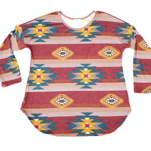 Primary Photo - BRAND:    VIAMORSTYLE: TOP LONG SLEEVE BASIC COLOR: MULTI SIZE: 3X SKU: 196-19694-35643