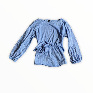 Primary Photo - BRAND: ANN TAYLOR STYLE: TOP LONG SLEEVE COLOR: BLUE WHITE SIZE: M SKU: 196-196144-271