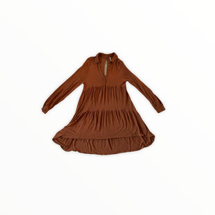Primary Photo - BRAND: FREE PEOPLE STYLE: DRESS SHORT LONG SLEEVE COLOR: BROWN SIZE: S SKU: 196-196112-55418