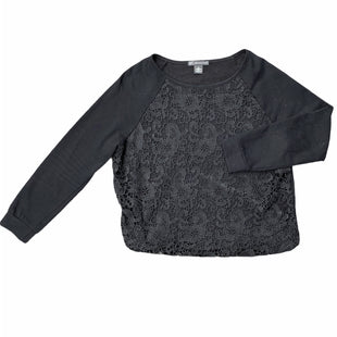 Primary Photo - BRAND: ADRIANNA PAPELL STYLE: TOP LONG SLEEVE COLOR: BLACK SIZE: L SKU: 196-19681-74189
