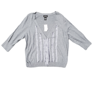 Primary Photo - BRAND: LANE BRYANT STYLE: SWEATER LIGHTWEIGHT COLOR: GREY SIZE: 1X SKU: 196-196145-466
