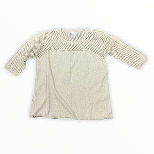 Primary Photo - BRAND: ZENERGY BY CHICOS STYLE: TOP LONG SLEEVE COLOR: CREAM SIZE: L SKU: 196-19694-34958