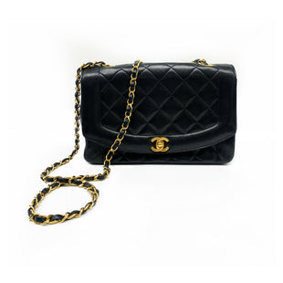 Primary Photo - BRAND: CHANEL STYLE: HANDBAG DESIGNER COLOR: BLACK SIZE: SMALL OTHER INFO: SAC DIANA SKU: 196-19681-74239