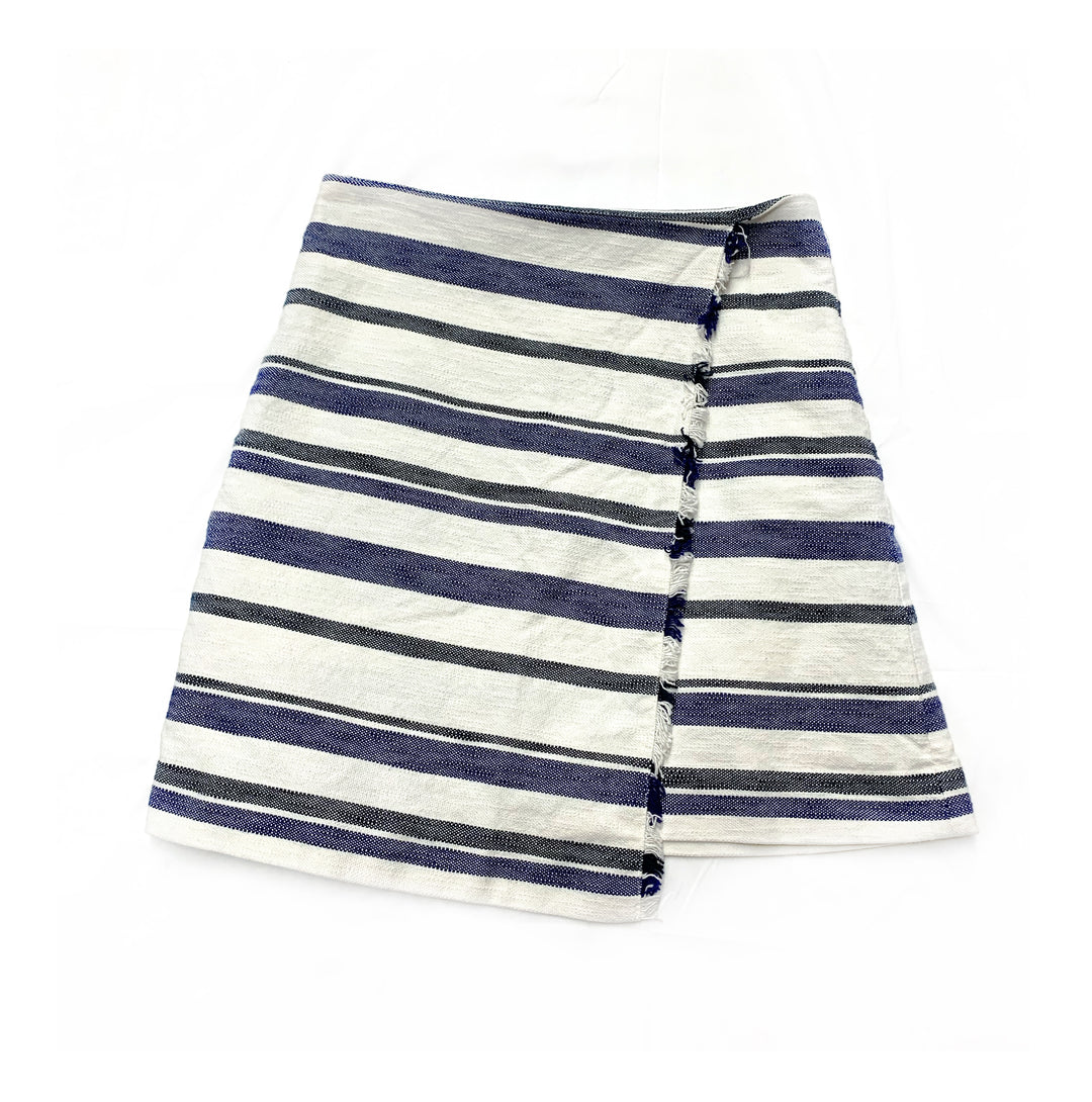 Primary Photo - BRAND: ANN TAYLOR LOFT<BR>STYLE: SKIRT<BR>COLOR: WHITE BLUE<BR>SIZE: 6<BR>SKU: 196-196112-48415