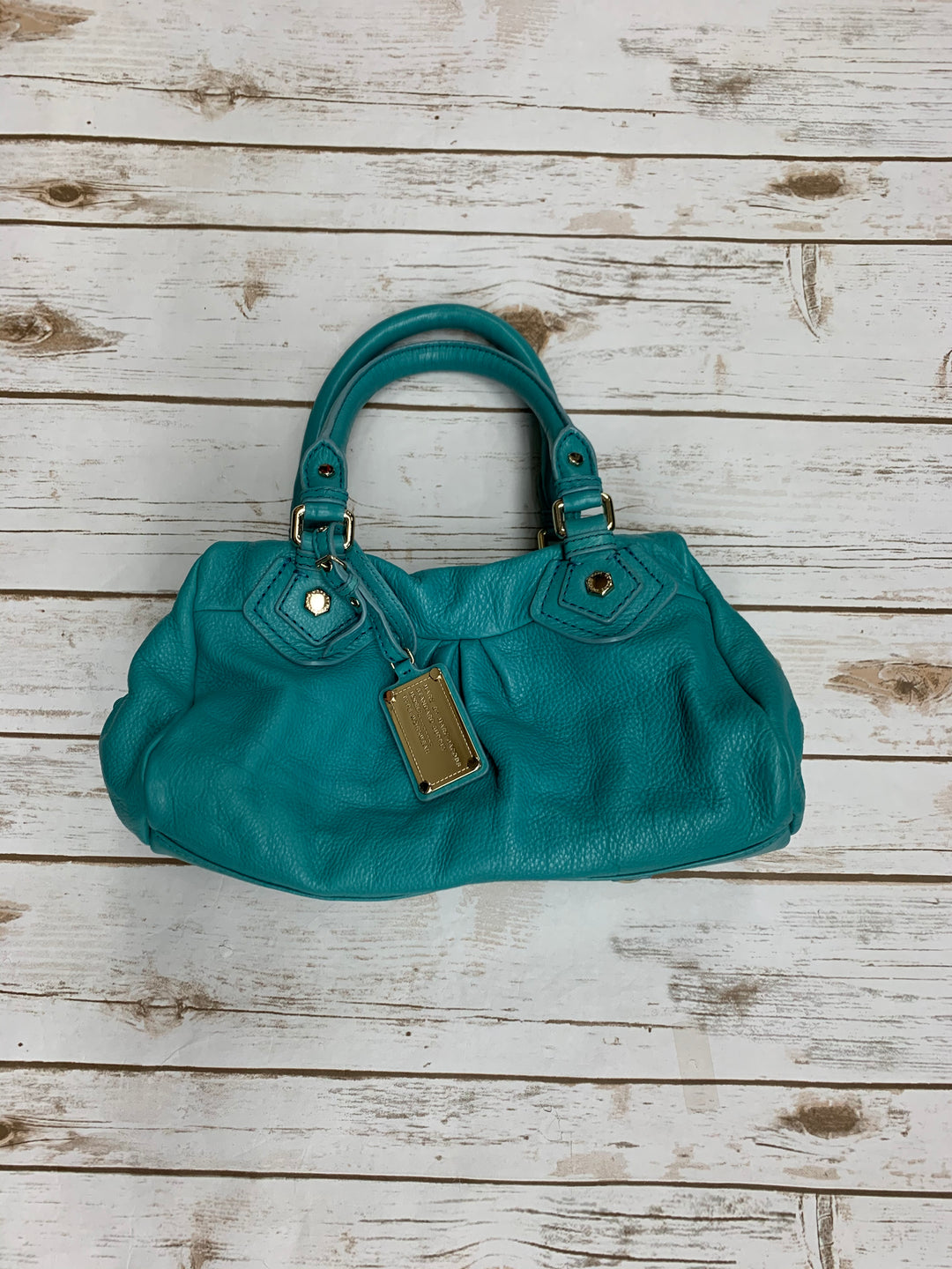 Primary Photo - BRAND: MARC BY MARC JACOBS <BR>STYLE: HANDBAG DESIGNER <BR>COLOR: TURQUOISE <BR>SIZE: MEDIUM <BR>SKU: 196-19681-70747