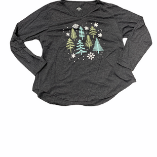 Primary Photo - BRAND:  CME STYLE: TOP LONG SLEEVE COLOR: CHARCOAL SIZE: 3X OTHER INFO: SNOWFLAKES AND TREES SKU: 196-196112-49612