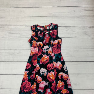 Primary Photo - BRAND: ELIZA J STYLE: DRESS SHORT SLEEVELESS COLOR: BLACK SIZE: S OTHER INFO: FLORAL PRINT SKU: 196-196112-48417