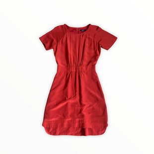 Primary Photo - BRAND: MADEWELL STYLE: DRESS SHORT SHORT SLEEVE COLOR: RUST SIZE: XS SKU: 196-196112-54599