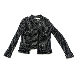 Primary Photo - BRAND: ANN TAYLOR LOFTSTYLE: SWEATER CARDIGAN LIGHTWEIGHTCOLOR: BLACK WHITESIZE: SSKU: 196-196132-2068