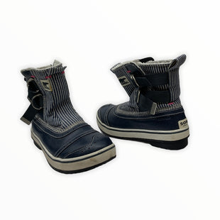 Primary Photo - BRAND: SOREL STYLE: BOOTS DESIGNER COLOR: BLUE WHITE SIZE: 7.5 OTHER INFO: TIVOLI SLIP ON SKU: 196-14511-47966