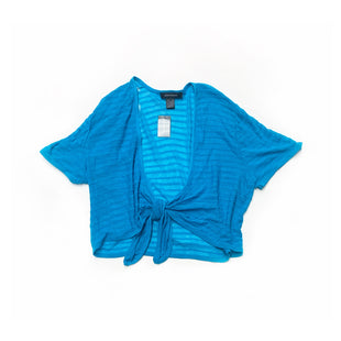 Primary Photo - BRAND: ASHLEY STEWARTSTYLE: SWEATER CARDIGAN LIGHTWEIGHTCOLOR: BLUESIZE: 1XSKU: 196-196140-50