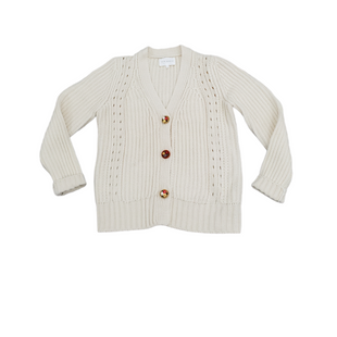 Primary Photo - BRAND:   FREE THE ROSESSTYLE: SWEATER CARDIGAN HEAVYWEIGHT COLOR: CREAM SIZE: M SKU: 196-196112-58523
