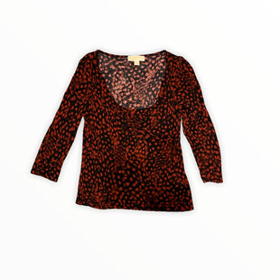 Primary Photo - BRAND: MICHAEL BY MICHAEL KORS STYLE: TOP LONG SLEEVE COLOR: RED BLACK SIZE: M SKU: 196-19694-35261