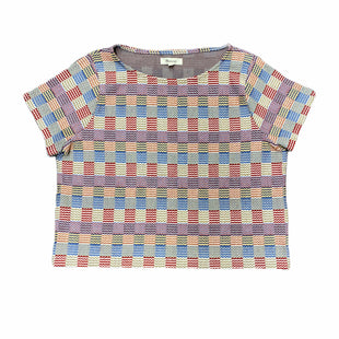 Primary Photo - BRAND: MADEWELL STYLE: TOP SHORT SLEEVE COLOR: RED BLUE SIZE: S SKU: 196-196145-1732