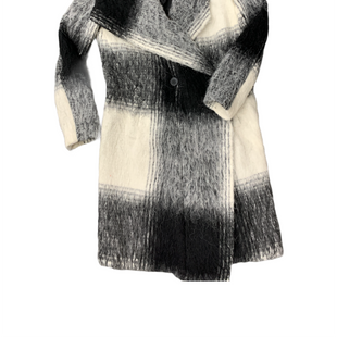 Primary Photo - BRAND: DKNY STYLE: COAT WOOL COLOR: BLACK WHITE SIZE: PETITE  MEDIUM SKU: 196-14511-48205